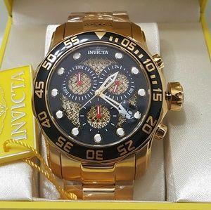 Brand new Invicta gold men's watch